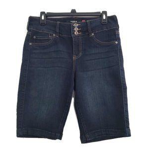 Torrid Dark Wash Bermuda Blue Jean Shorts Size 12